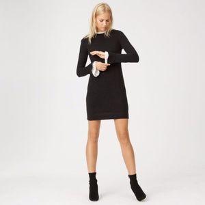 Club Monaco Ruffle Trim Wool Sweater Dress